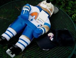 QUEBEC NORDIC NHL BOBO THE PRO BEAR AND 1979-1995 HAT