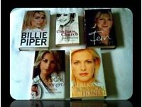 FEMALE CELEBRITY BIOGRAPHIES - 5 BOOKS - FOR SALE