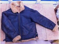 World War Two RAF style handmade, real sheepskin flying jacket