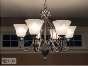 Brush Nickel 6-light Chandelier