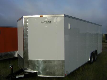 New 8.5x24 Enclosed Car Hauler Trailer V Nose Ramp Door in Trailers