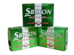 3 DOZEN BRAND NEW SRIXON SOFT FEEL GOLF BALLS