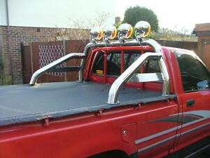 Toyota hilux hi lux pickup roll bar rollbar sports bar for Interior roll cage for toyota pickup
