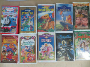 10 of VHS Children Tapes
