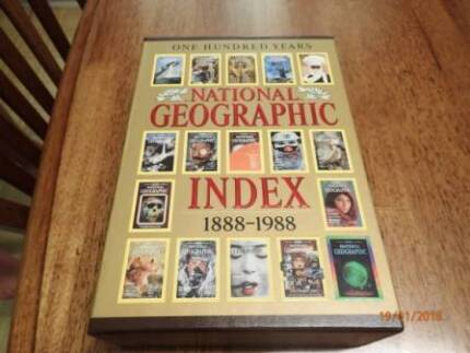 National Geographic Index + Maps
