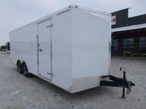 8.5 X 20 Tandem axle enclosed car hauler for rent