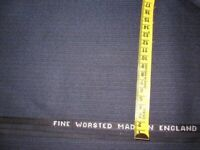 Wool fabric dark blue stripe