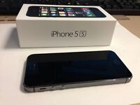 BLACK APPLE iPHONE 5S WITH CHARGER AND ORIGINAL BOX - ROGERS