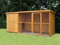 Sussex Dog Kennel and Run 10ft x 4ft x 5ft