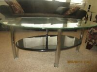 Modern coffee table and two end tables