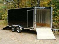 """4x8' -102""""×30 enclosed and flatbeds."""