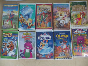 Set of 10 Children VHS Tapes