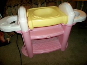 Little Tikes Nursery Centre Bath & Change Table w/ 2 High Chairs