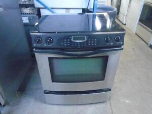 "STAINLESS STEEL SLIDE INN JENN AIR 30"" RANGE**CUISINIERE JENN AIR"