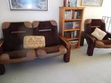 BROWN LEATHER AND SWEDE 2 SEATER AND SINGLE SEAT LOUNGE Noraville Wyong Area Preview