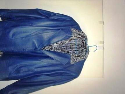 Leather Jacket Size16-18 Carine Stirling Area Preview