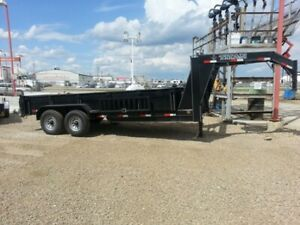 TAXES INCLUDED!! TITAN 14' GOOSENECK DUMP TRAILER