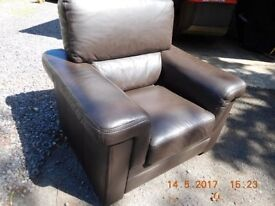 Brown Leather chair in good condition, we need the space.