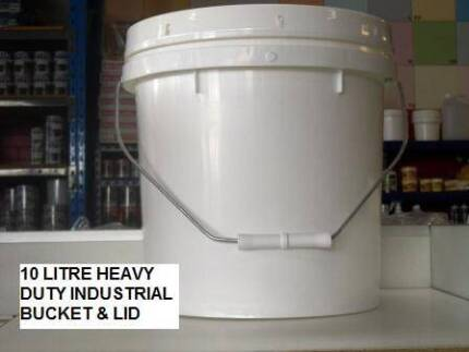 BUCKETS 10 LITRE HEAVY DUTY INDUSTRIAL PLASTIC WITH LID