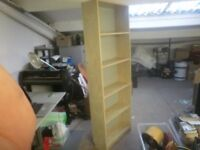 Tall home or office shelving unit, shelf or furniture, storage shelves, files, book case
