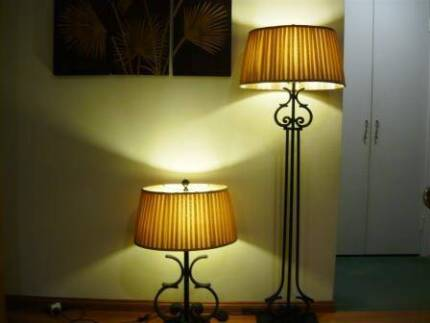Floor lamp and matching table lamp from Beacon Lighting