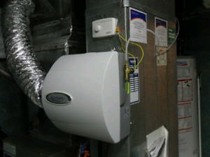 Central humidifier installation