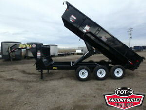21K - 7 X 16 GN Dump Trailer - $14,199 TAX IN, Delivered to YOU!