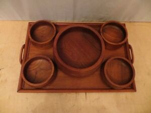 Wood Tray with 5 Wood Bowls London Ontario image 2