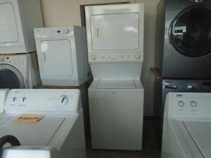 1001221 LAVEUSE SECHEUSE SUPERPOSE FRIGIDAIRE STACKED WASHER DRYER