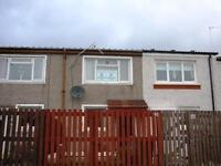Traditional 2 bedroom mid terraced unfurnished house to let in Riggside road, Craigend