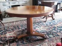 Antique Victorian mahogany looe dining/occasional table