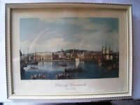 1960S ORIGINAL VIEW OF GREENWICH- VINTAGE PAINTING
