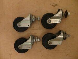 4 Rubber Wheels