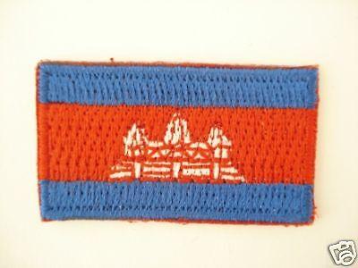 mini Kambodscha  Aufbügler,Aufnäher,Patch 3,5 cm * 2 cm
