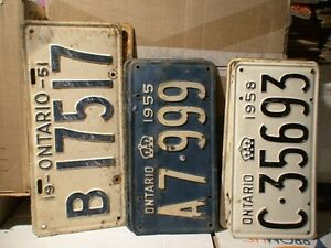 License Plates, mostly Ontario from 1929 t0 1980 100's in total Belleville Belleville Area image 2