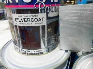 SILVER ROOF PAINT AND STEEL 4 LITRE PREMIUM AUSTRALIAN MADE Underwood Logan Area Preview