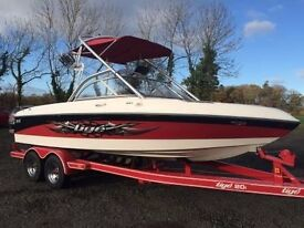 Tige 20i Speed-boat 20ft - wakeboarding boat, 320HP engine with custom twin axle trailer
