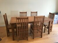 Moving Sale - Table and six chairs