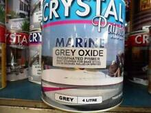 MARINE GREY OXIDE PHOSPHATED PRIMER 4 LITRE BRUSH, ROLL OR SPRAY Underwood Logan Area Preview
