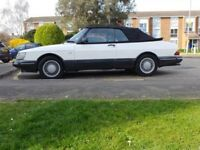 Beautiful White Saab Clasic 900 c900 convertible cabriolet 1992