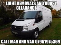 Man and Van removals and clearance