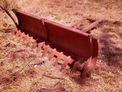 Fordson Diesel Major Front Blade and Stick Rake