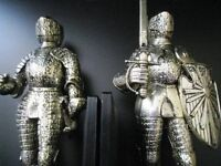 2 KNIGHT FIGURES - GOOD & CLEAN CONDITION- 20 POUNDS