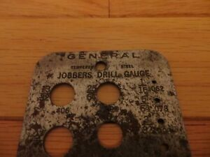 Vintage General Jobbers No14 Drill Gauge London Ontario image 3