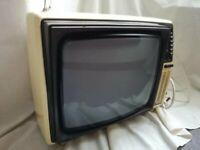 "For Sale Retro 14"" White Phillips Portable CRT TV"