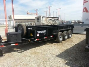 TAXES INCLUDED!! NEW TITAN 16' TRIPLE AXLE B/P DUMP TRAILER