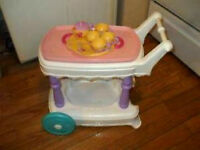 Fisher Price Tea Cart with Tea Set Included (Retired):