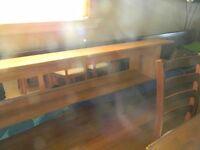 Tête de lit en bois avec miroir et lumiéres