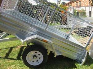 NEW GALVANIZED BOX TRAILER 7X4 + NEW WHEELS & TYRES +12 MTHS REGO Blue Haven Wyong Area Preview