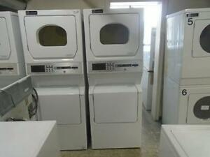 1001143 LAVEUSE SECHEUSE COMMERCIALE SUPERPOSE MAYTAG COMMERCIAL WASHER DRYER STACKED
